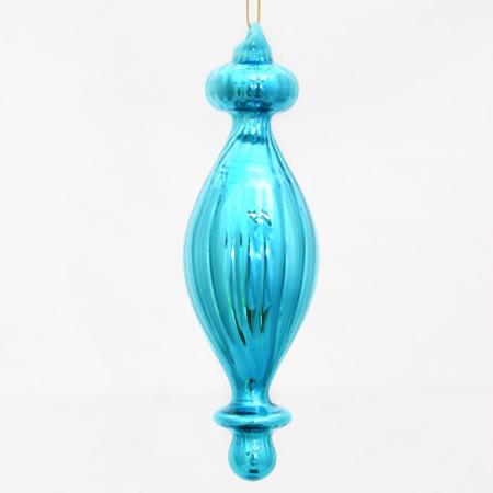 Glass Finial - Blue