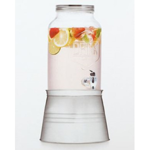 Glass Jar Drink Dispenser 6 Litre