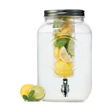 Glass Jar Drink Dispenser 8 Litre