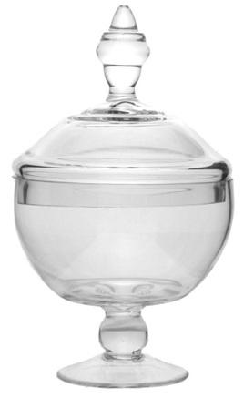 Glass lollie jar - 25cm x 19cm with lid