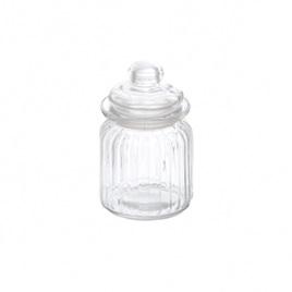 Glass small jars - each 7,5cm x 12.5cm