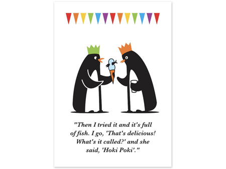 Glenn Jones Art Hoki Poki Humour Card