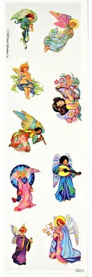 Glitter Angel Stickers