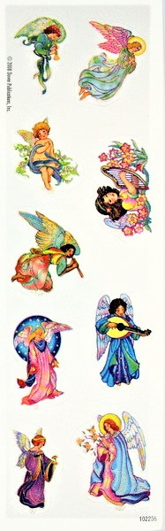 Glitter Angel Stickers