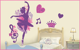 GLITTER BALLET wall decal