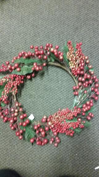Glitter Berry Wreath  50cm