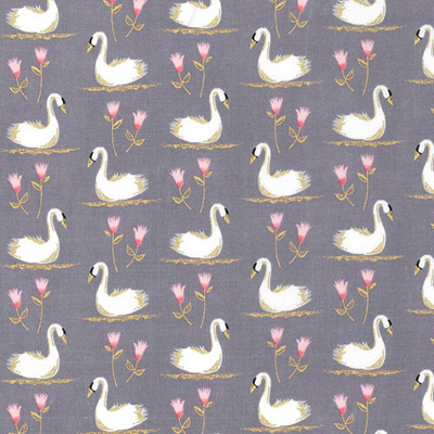 Glitter Critters - Swans A Swimming Pewter