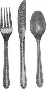 Glitter Cutlery - Silver pack of 24