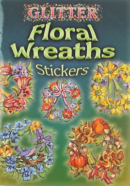 Glitter Floral Wreaths Stickers