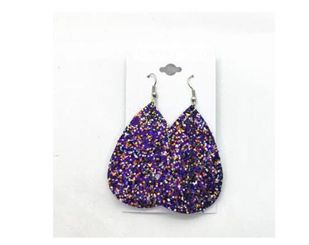 Glitter Purple Earrings