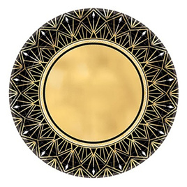 Glitz & glam black & gold plates x 8