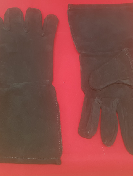 Glove 1 - Pair of Sturdy Leather Gloves with Long Cuffs