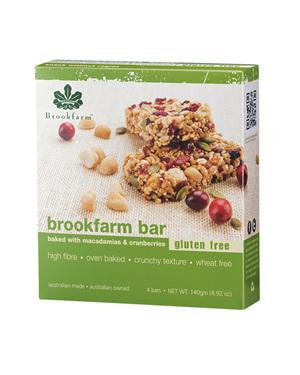 Gluten Free Macadamia & Cranberry Bars - 4 pack x 20g