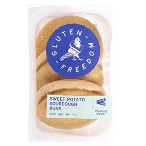 Gluten Freedom Sourdough Buns Sweet Potato 3pk