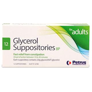 GLYCEROL SUPPOS 2.8G (PP)