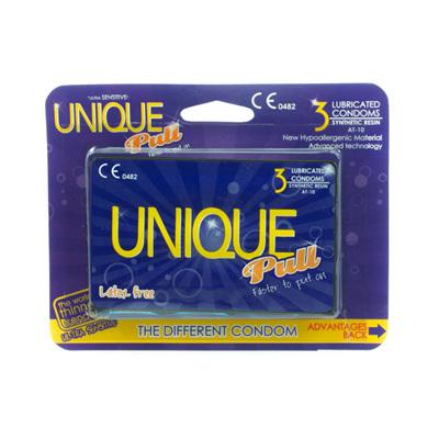 GLYDE Unique Non-Latex Condom 3pk