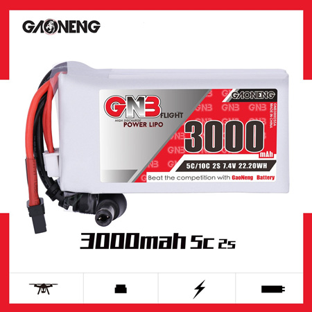 GNB 2S 3000mAh Goggle Battery