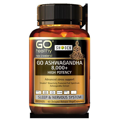 GO ASHWAGANDHA 8,000 + 60 DELAYED RELEASE VCAPS