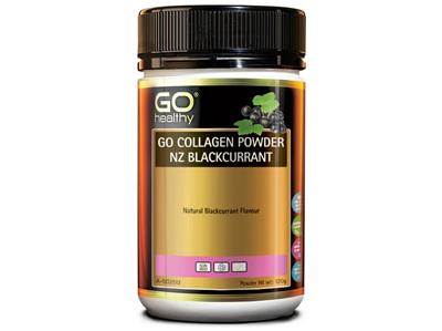 GO Collagen Pwd NZ Blackcurrant 120g