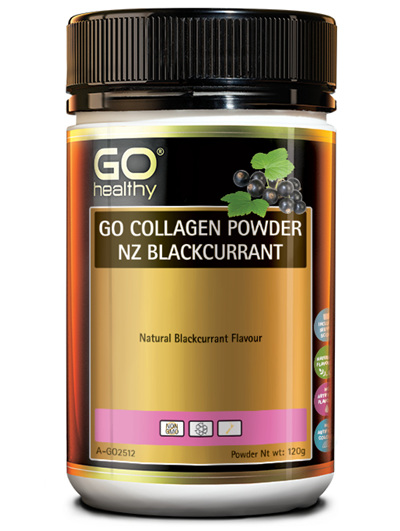 GO Collagen Pwd NZ Blackcurrant 120g