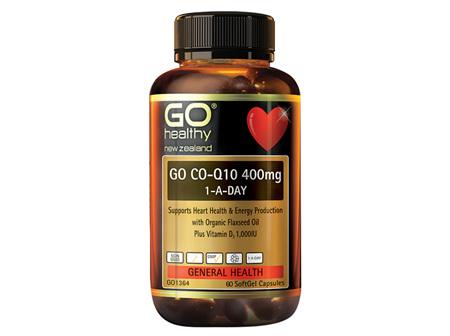 GO CoQ10 400mg 1-A-Day 60caps