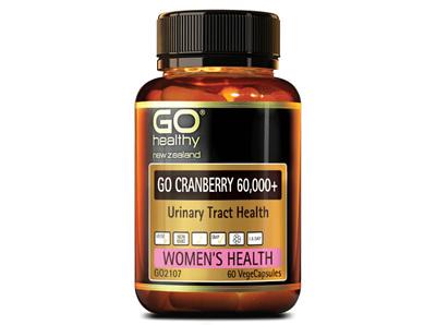 Go Cranberry 60,000+ Urinary Tract Health -30vege caps