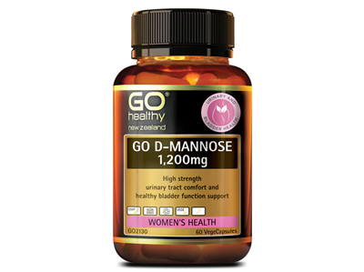 GO D-Mannose 1200mg 60vcaps