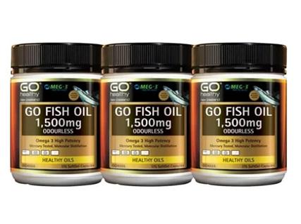 GO Fish Oil 1500mg 3x 175 Caps