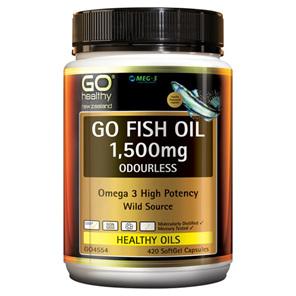 Go Fish Oil 1500MG Odourless 175 Caps