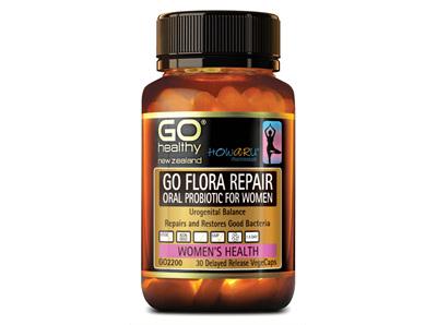 Go Flora Repair Oral Probiotic for Woman Urogential Balance - 30 Vege caps
