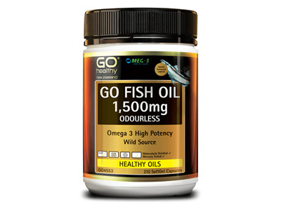 GO Healthy - Fish oil 1500mg odourless (210 caps)