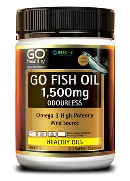 GO Healthy - Fish oil 1500mg odourless (210 caps)