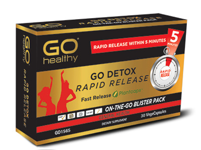 Go Healthy Go Detox Rapid Release 30 Vegetable Capsules