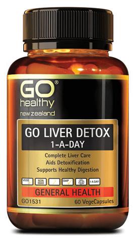 GO Healthy- Liver detox 1-a-day 60 vegecaps