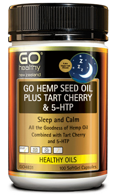 Go Hemp  seed oil plus tart cherry & 5 HTP