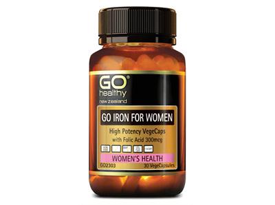 Go Iron for Woman High Potency with Folic Acid 300mg - 30 Vege Caps