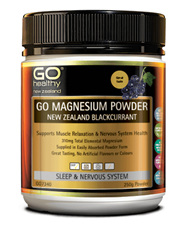 Go  magnesium powder blackcurrant 250g