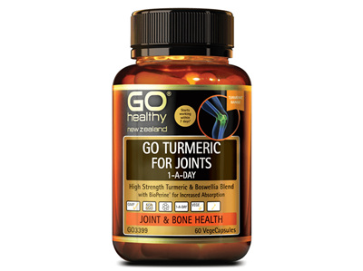GO Turmeric for Joints 1ADay 30Vcap