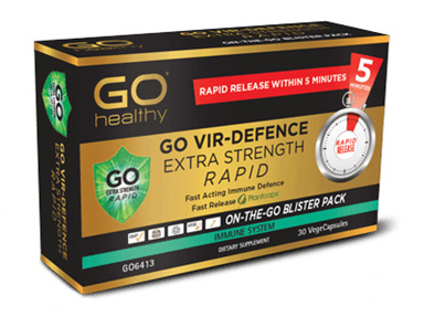 Go Vir-Defence Extra Strength Rapid On-The-Go Blister Pack - 30Vege Caps