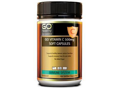 GO Vitamin C 500mg 100 Soft Caps