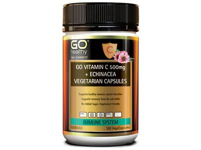 GO Vitamin C 500mg +Echin 100vcaps