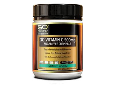 GO Vitamin C 500mg Sugar Free Chewable