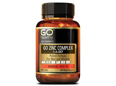 Go Zinc Complex 1-A-Day  for Men &  Women (60 VCaps)