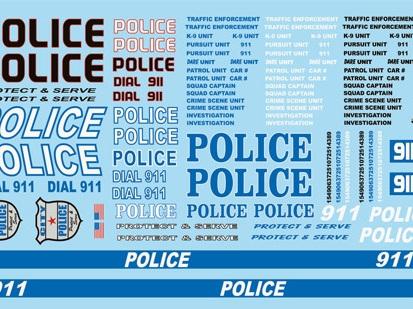 Gofer Decals - Police Modern