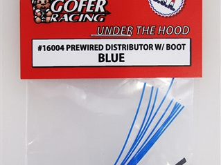 Gofer Prewired Distributor With Boot - Blue
