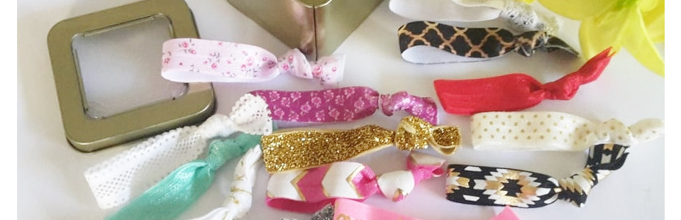 Hair ties in Tin Box - on sale until Monday