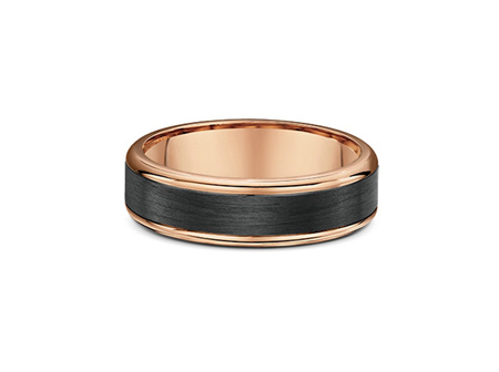 Gold and Carbon Fibre Mens Wedding Ring