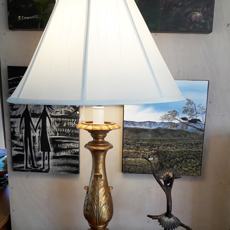 Gold Antique Table Lamp - $311
