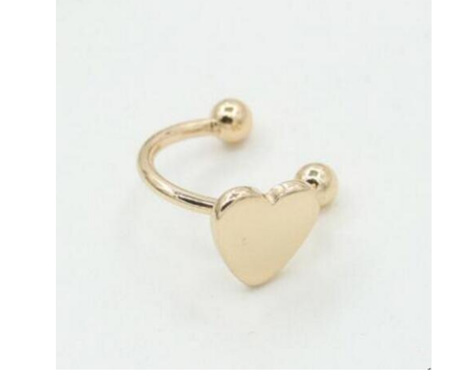 Gold Coloured Ear Cuff  Earring - HEART