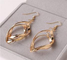 Gold  Entangled Dangle Earrings